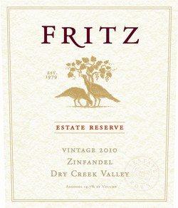 Wine Tip – Fritz 2010 Estate Reserve Zinfandel