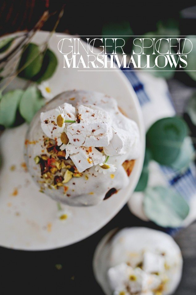 Ginger Tea Infused Marshmallows