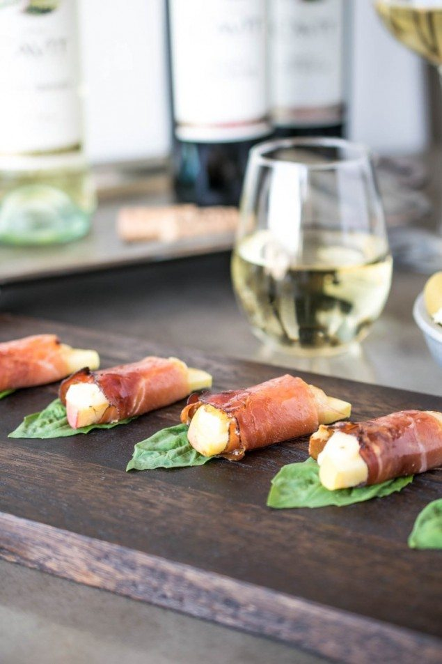 Smoked Prosciutto Apple Bites