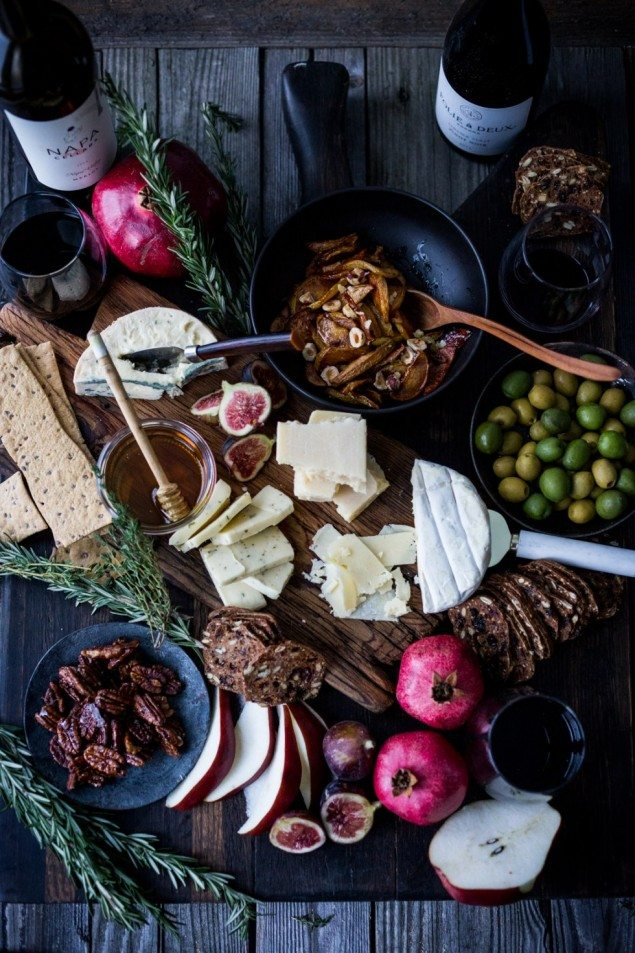 The Ultimate Thanksgiving Cheese Board with Honey Roasted Quince