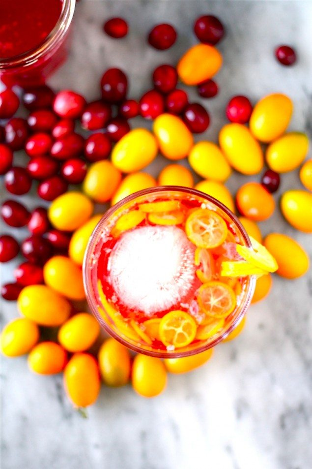 Cranberry Margaritas with Kumquat