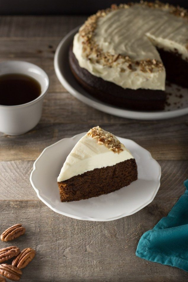 Pumpkin-Ginger Tea Cake with Cream Cheese Frosting – Honest Cooking