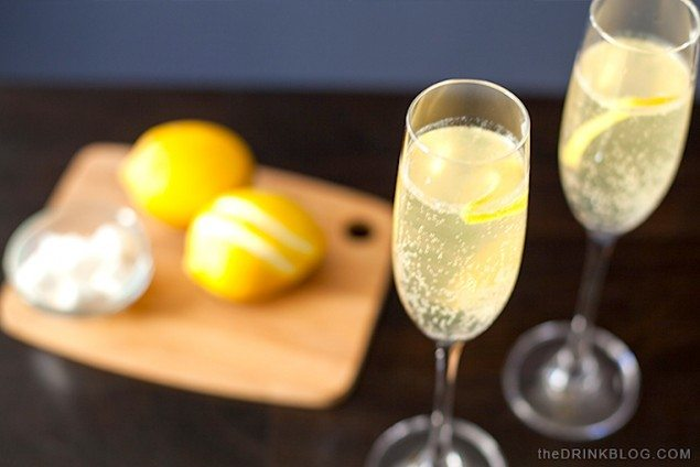 Champagne and Gin French 75