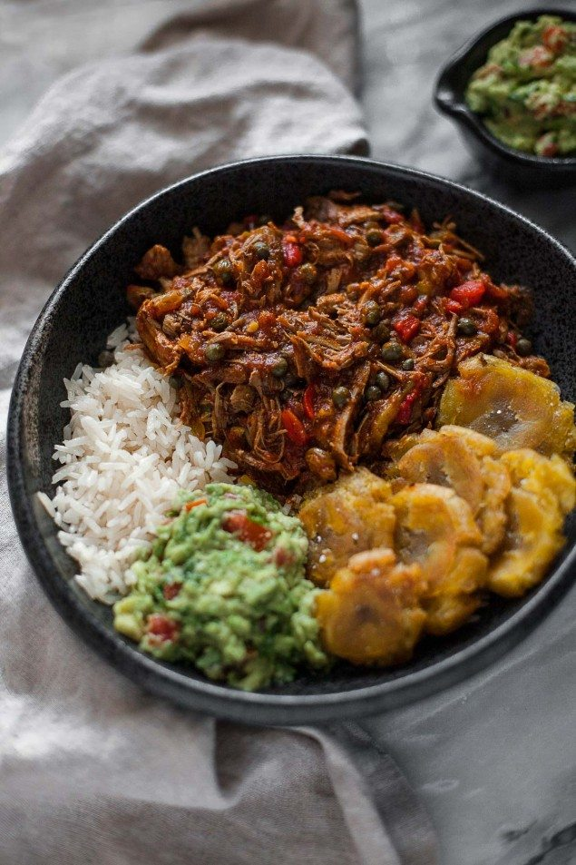 ... ropa vieja, made in a slow cooker or pressure cooker, depending on how