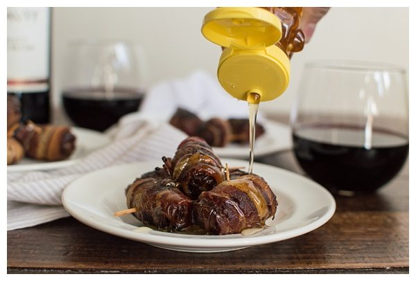 Bacon-Wrapped Manchego Dates with Honey