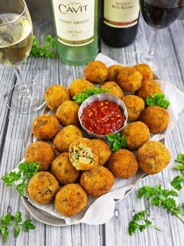 Collard Green and Black-Eyed Pea Croquettes