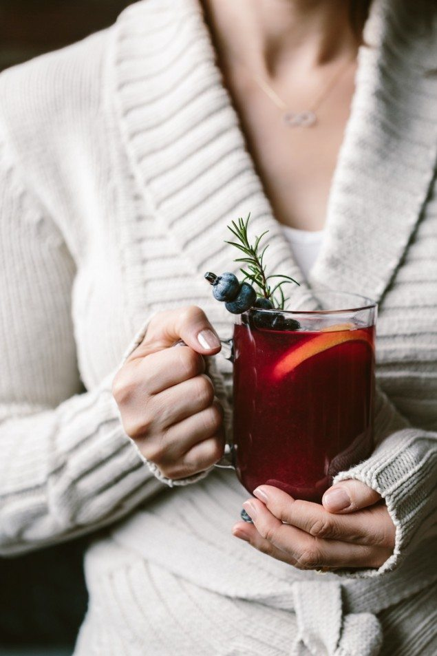 Honey Blueberry Hot Toddy