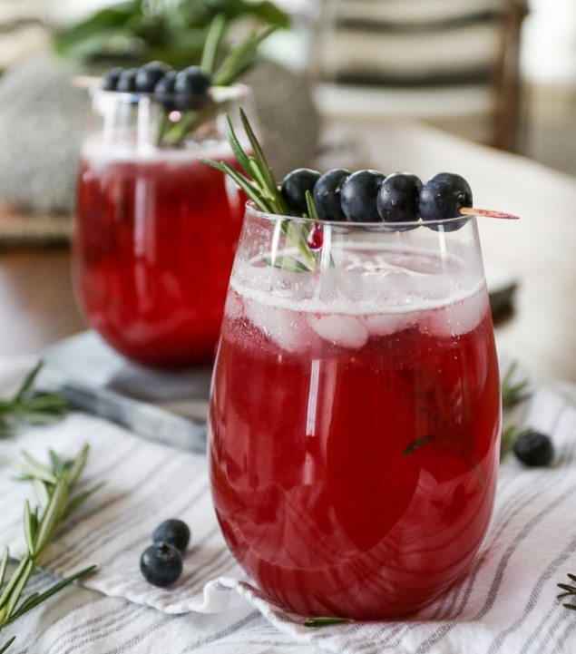Blueberry Fig Sparkler