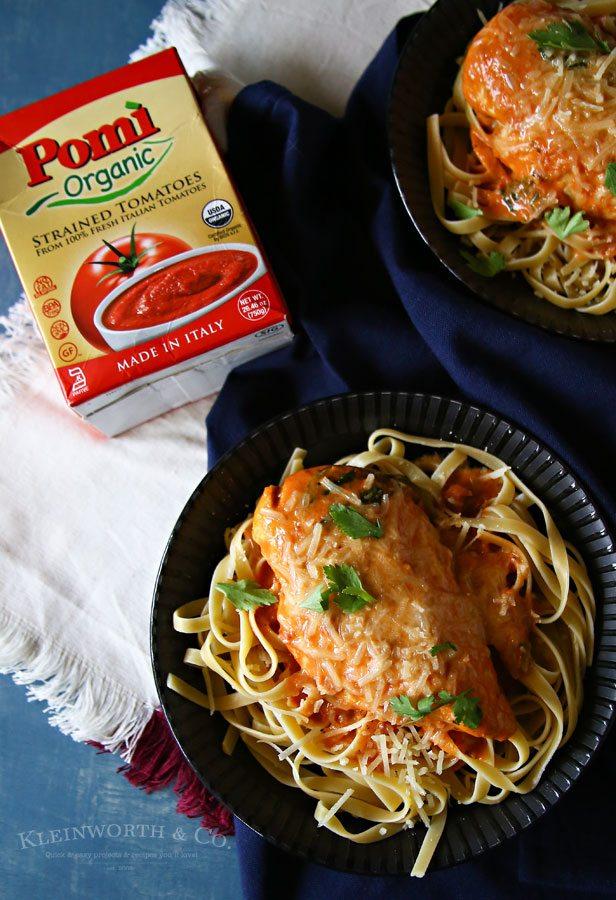 Creamy Tomato Chicken Parmesan