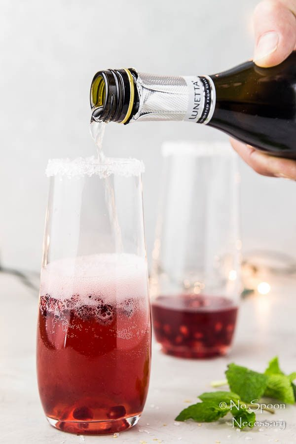 Pomegranate Orange Prosecco Cocktail