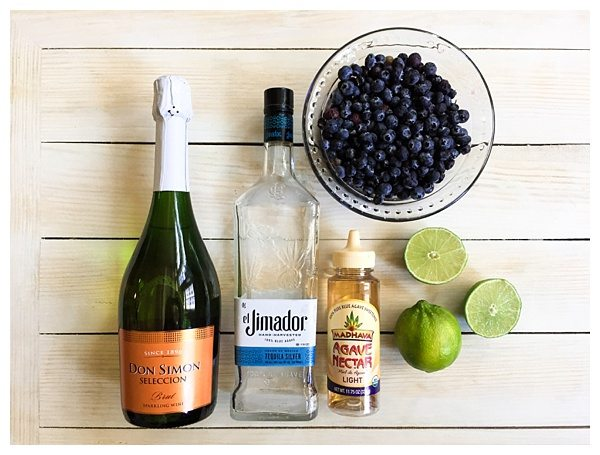 Sparkling Blueberry Lime Punch