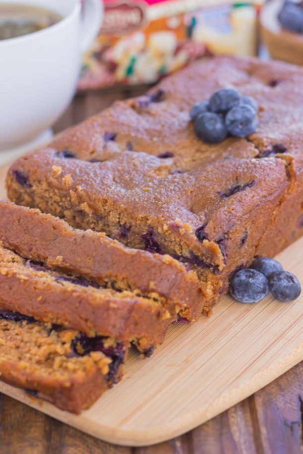 Blueberry Gingerbread Tea Loaf