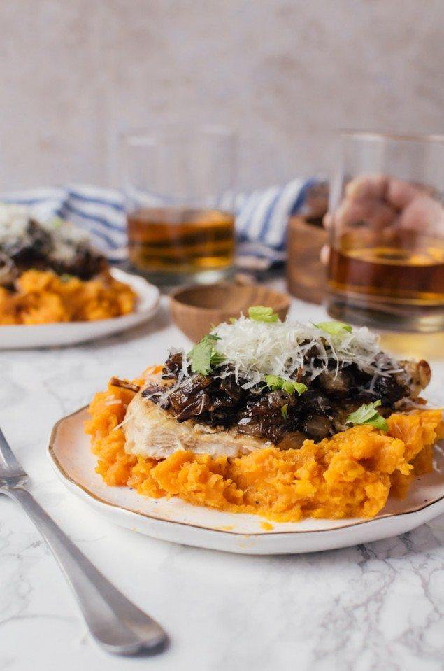 Seared Chicken and Sweet Potato Mash