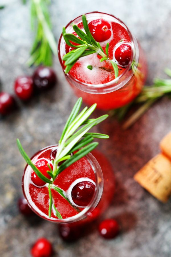 Cranberry Ginger Bellini