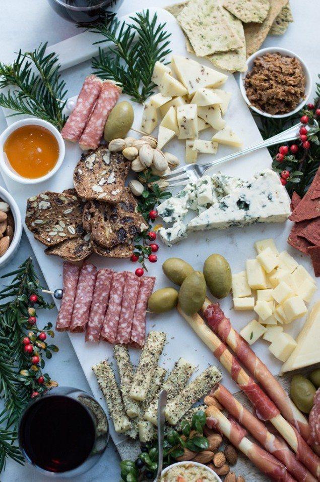 Winter Cheese Board with Artichoke Tampanade