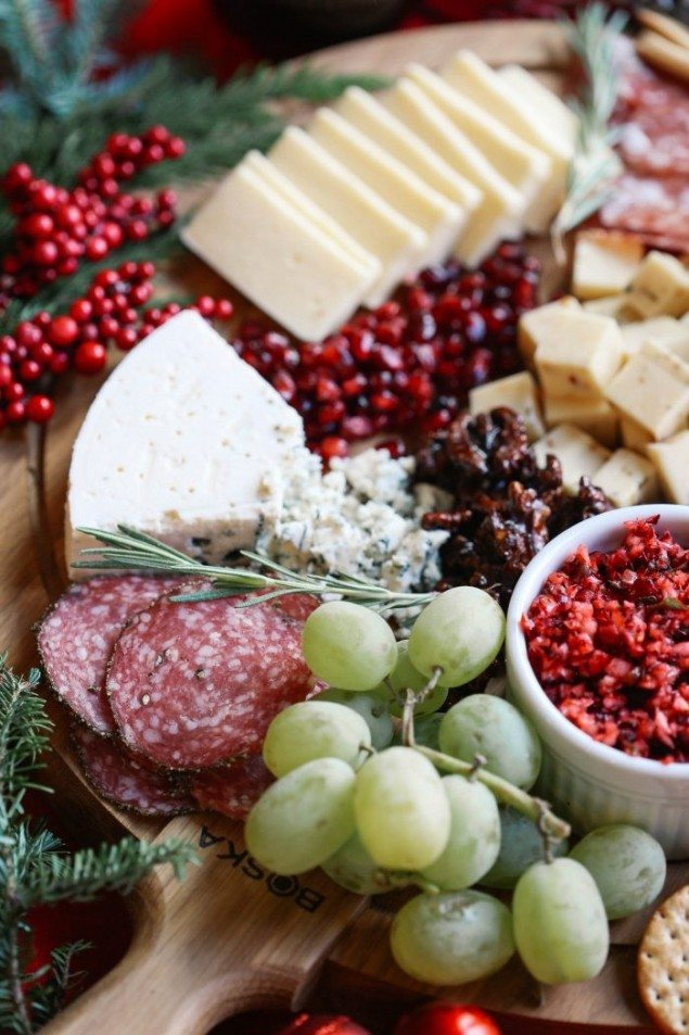 The Perfect Holiday Cheese Board with Cranberry Salsa