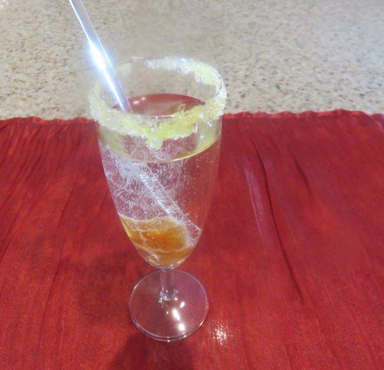 Sparkling Crème de Cassis Cocktail