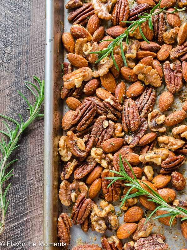 Spicy Maple Rosemary Nuts