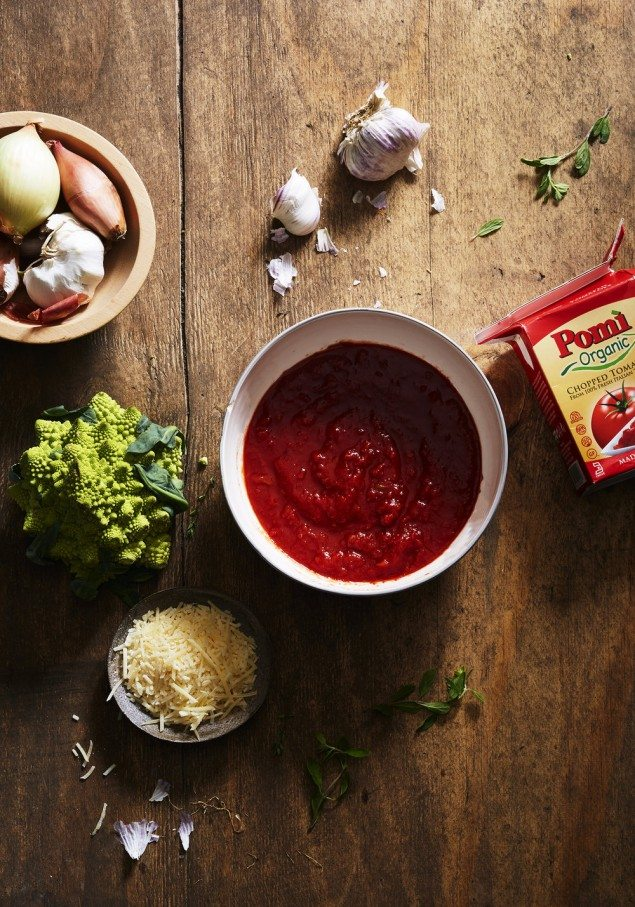 Savory Tomato Parmesan Crumble