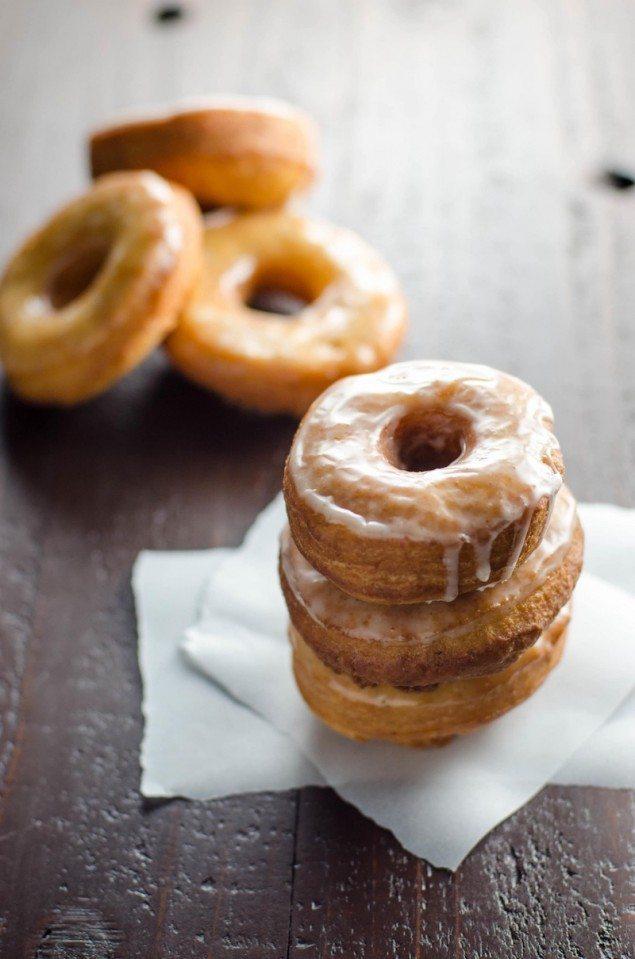 Glazed Gingerbread Doughnuts