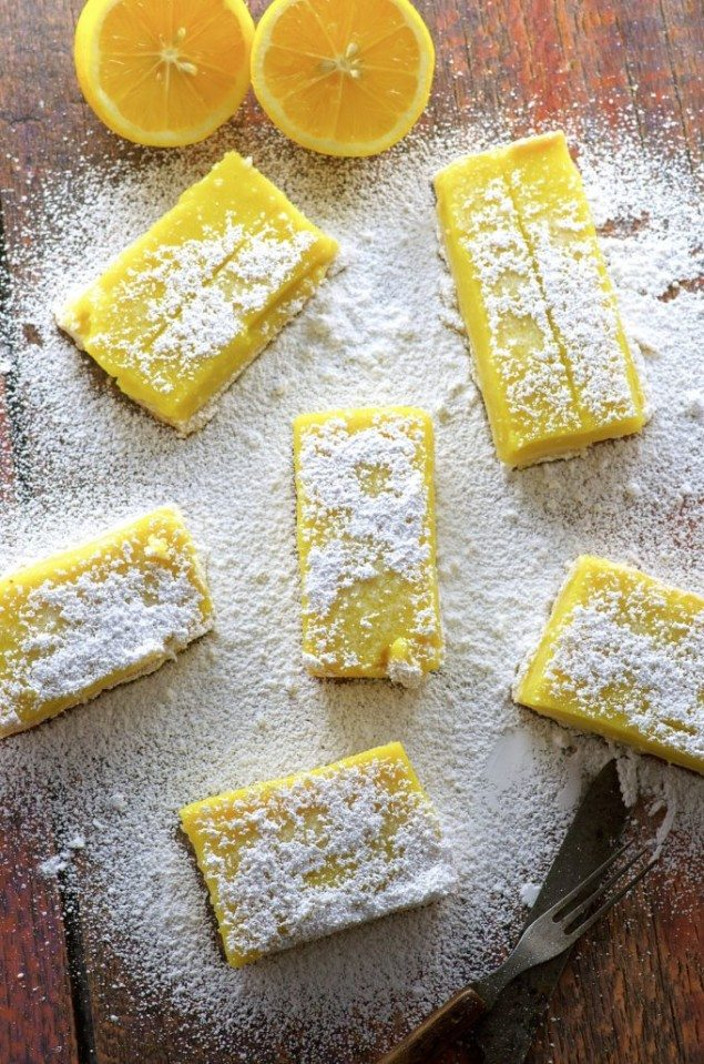 Vegan Meyer Lemon Bars