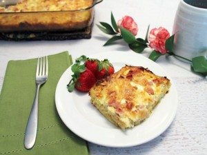 Ham-and-Cheese-Breakfast-Casserole-plated