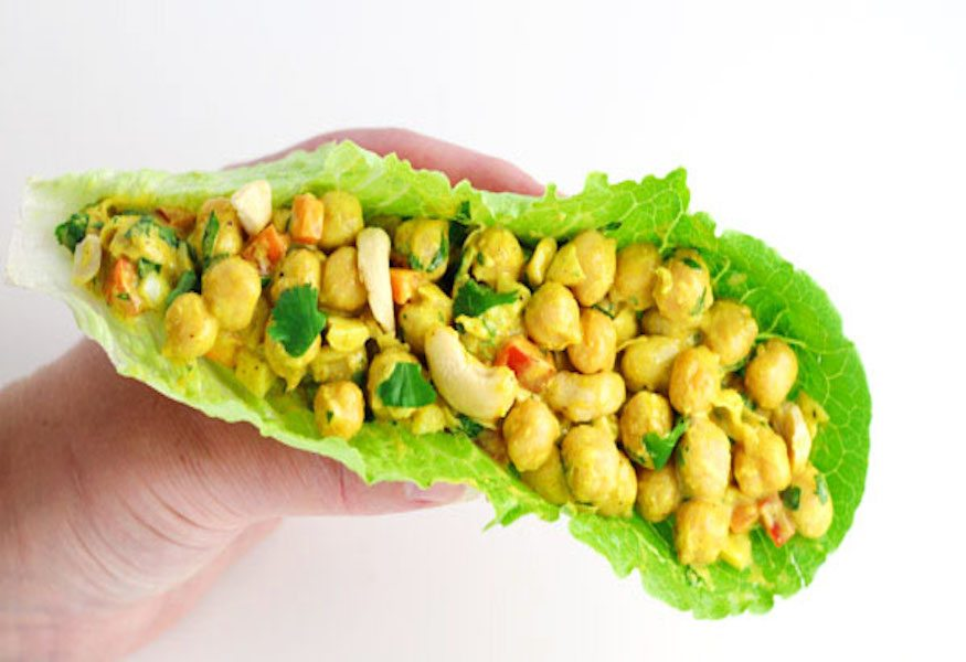Healthy-Curry-Chickpea-Lettuce-Wraps-3