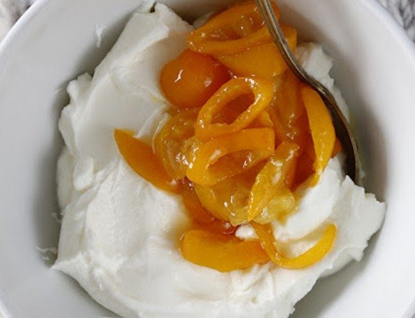 Labneh with Stewed Kumquats