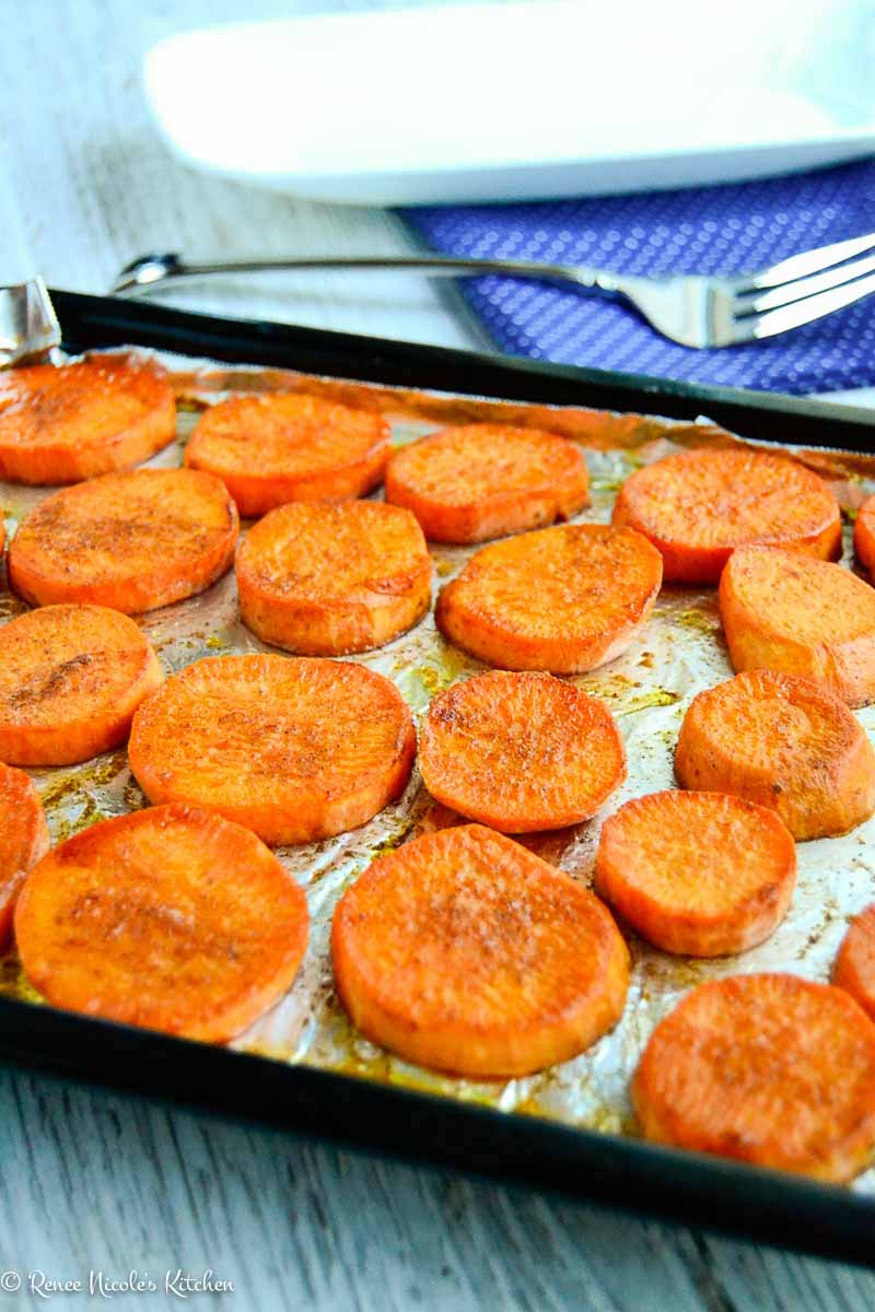 Roasted Sweet Potato Slices