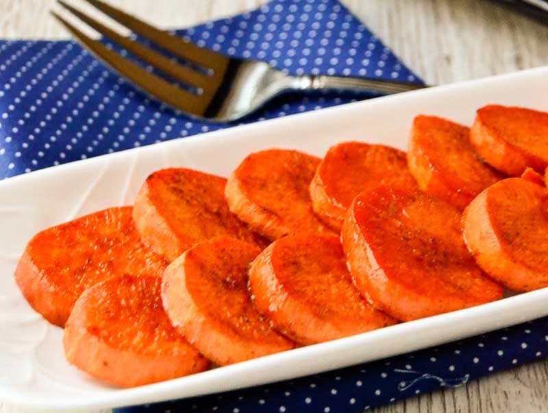 Roasted Sweet Potato Slices Honest Cooking