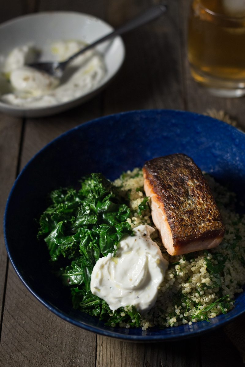 Salmon Quinoa Bowls with Kale