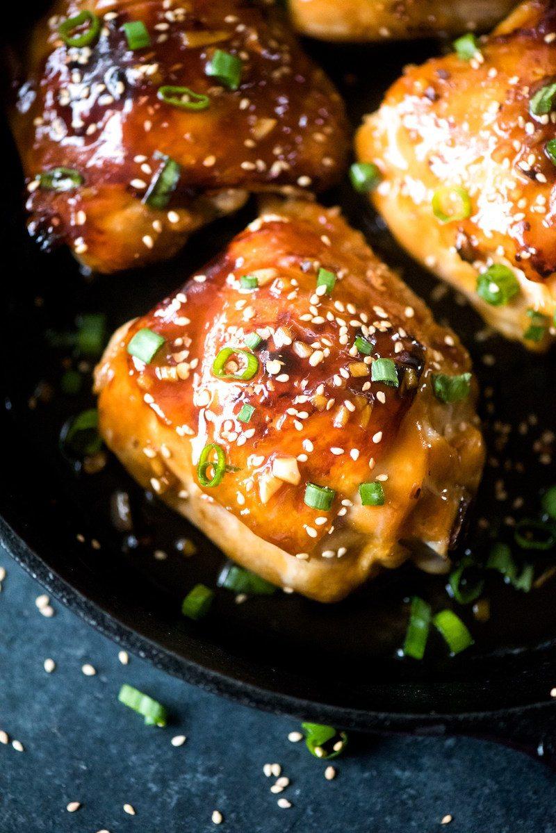 Sticky Honey Baked Garlic Chicken