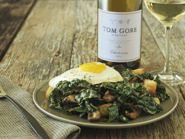 White Wine and Tuscan Kale Caesar Salad with Crispy Shiitakes ...