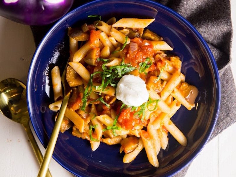 Gluten Free Roasted Eggplant Pasta – Honest Cooking
