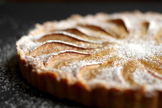 Pear and Peanut Butter Tart