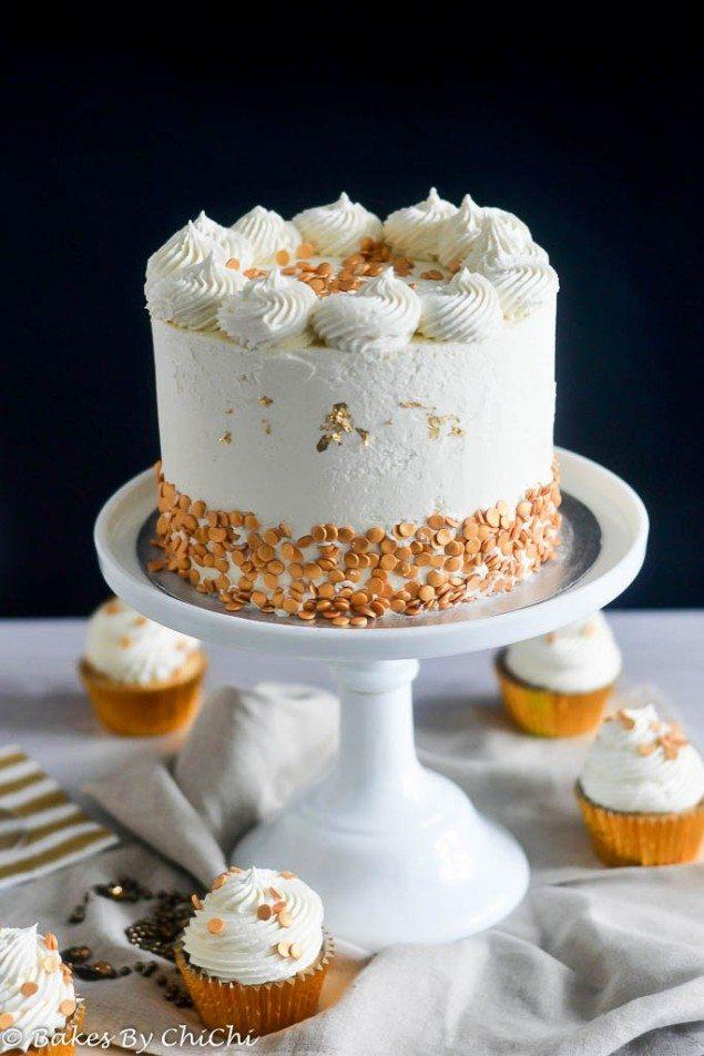 White Chocolate Champagne Cake