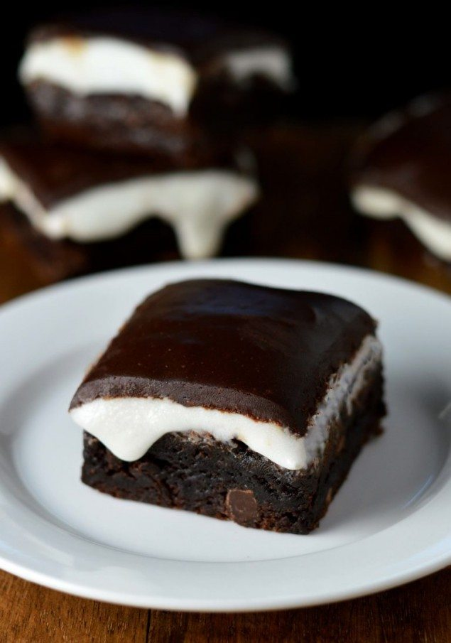 Gooey Peppermint Patty Brownies