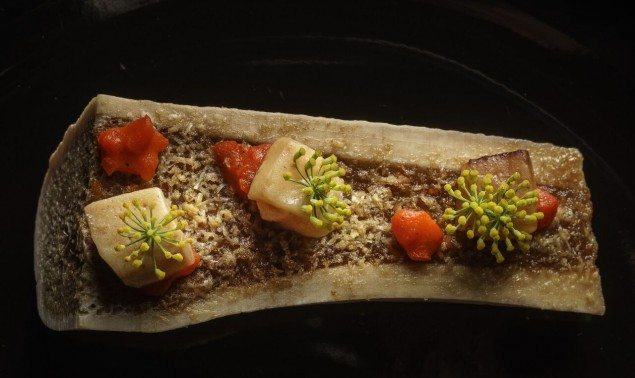 (The signature dish at Gustu consists of dehydrated, crunchy alpaca amongst other things. Photo: Luis Fernández)