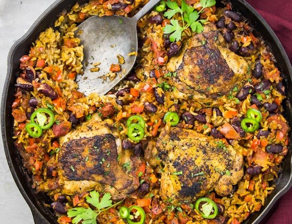 One-Skillet-Cajun-Chicken-Red-Beans-Rice-166
