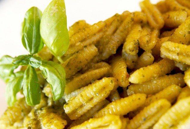Malloreddus Pasta with Basil Pesto