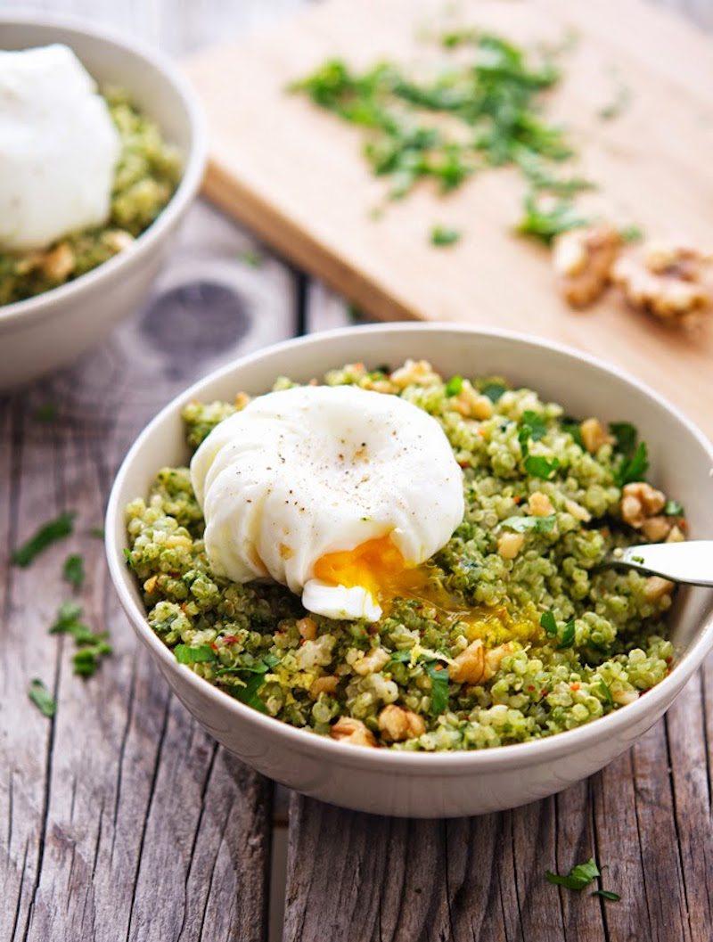 Quinoa-Kale-Pesto-Bowls