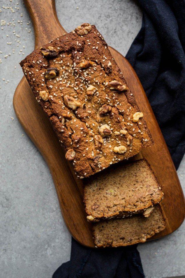 Gluten Free Banana Tahini Bread
