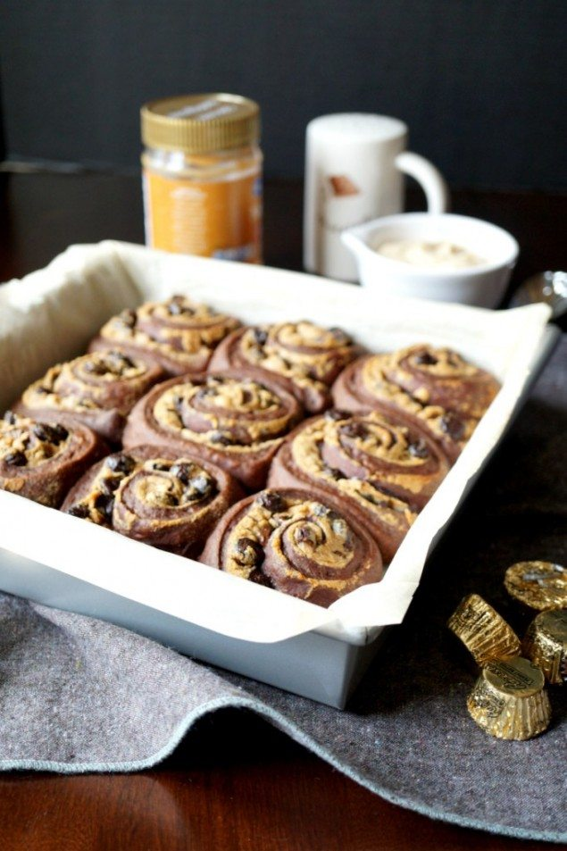Chocolate Peanut Butter Rolls