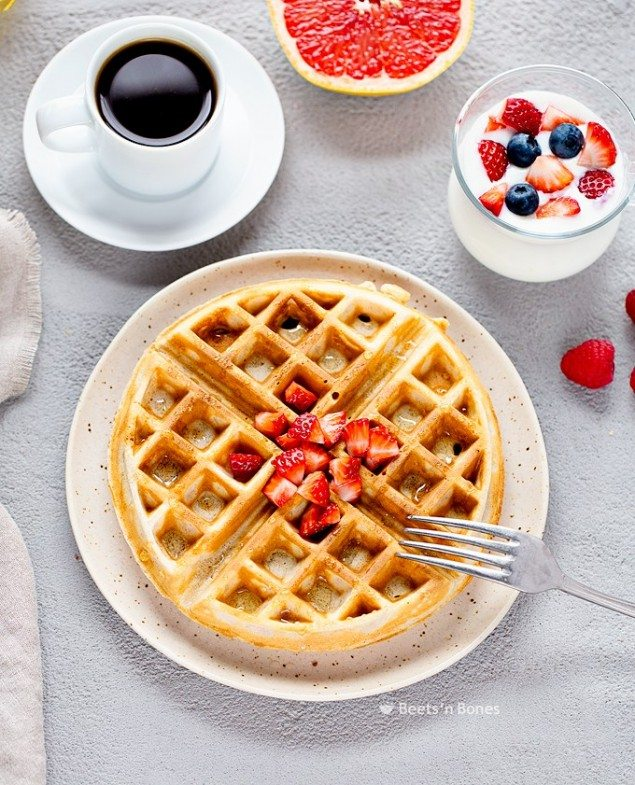 Light and Crispy Whole Grain Waffles