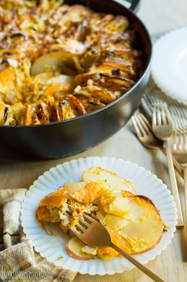 Fennel and Sage Sweet Potato Gratin