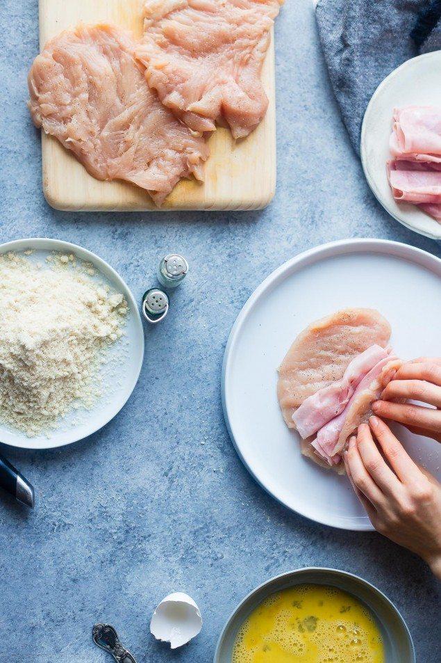 Gluten Free Chicken Cordon Bleau