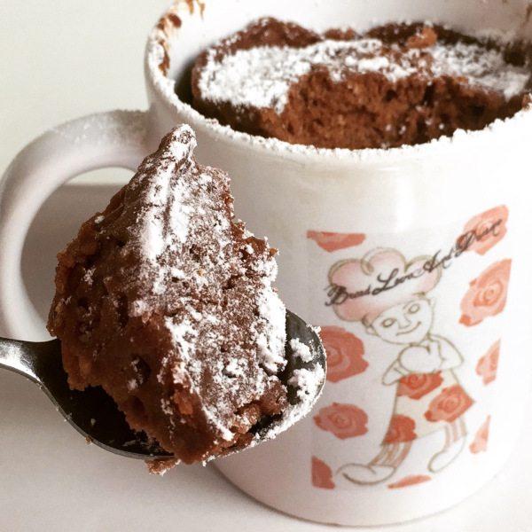 Easy Nutella Mug Cake