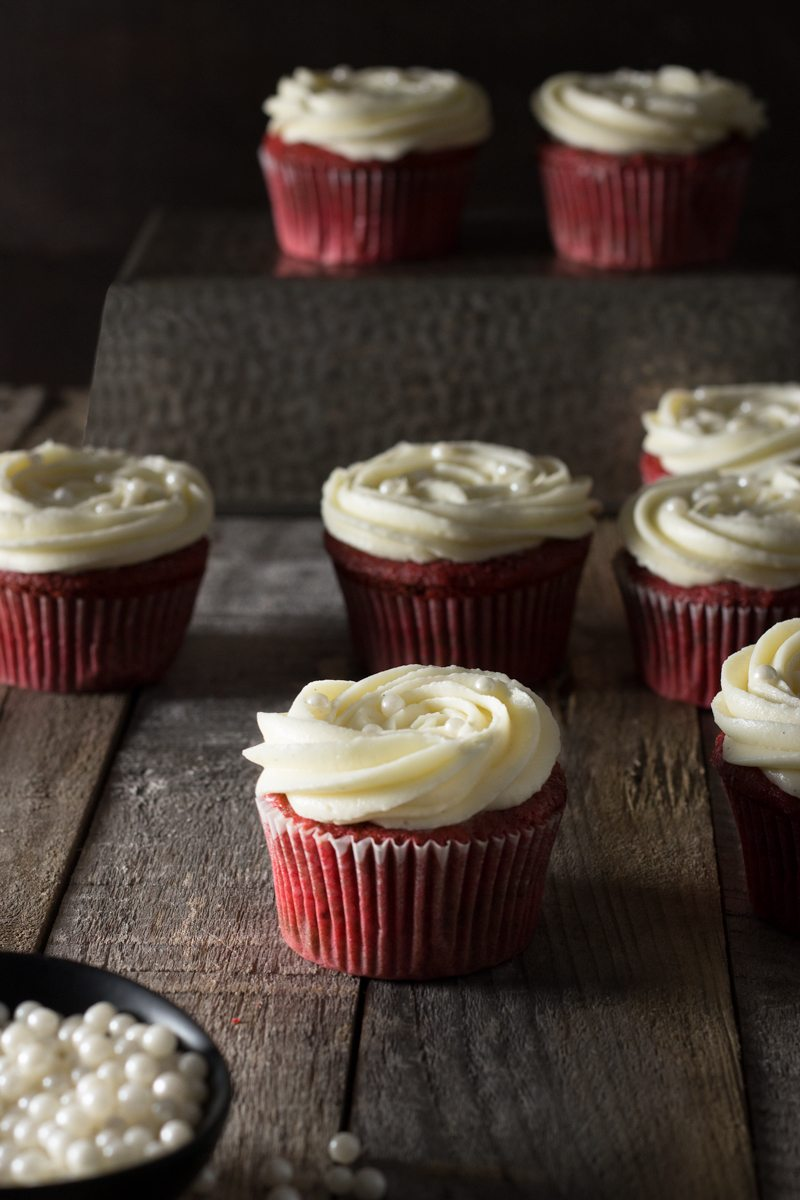red velvet cupcakes with vanilla cream cheese frosting print these red ...