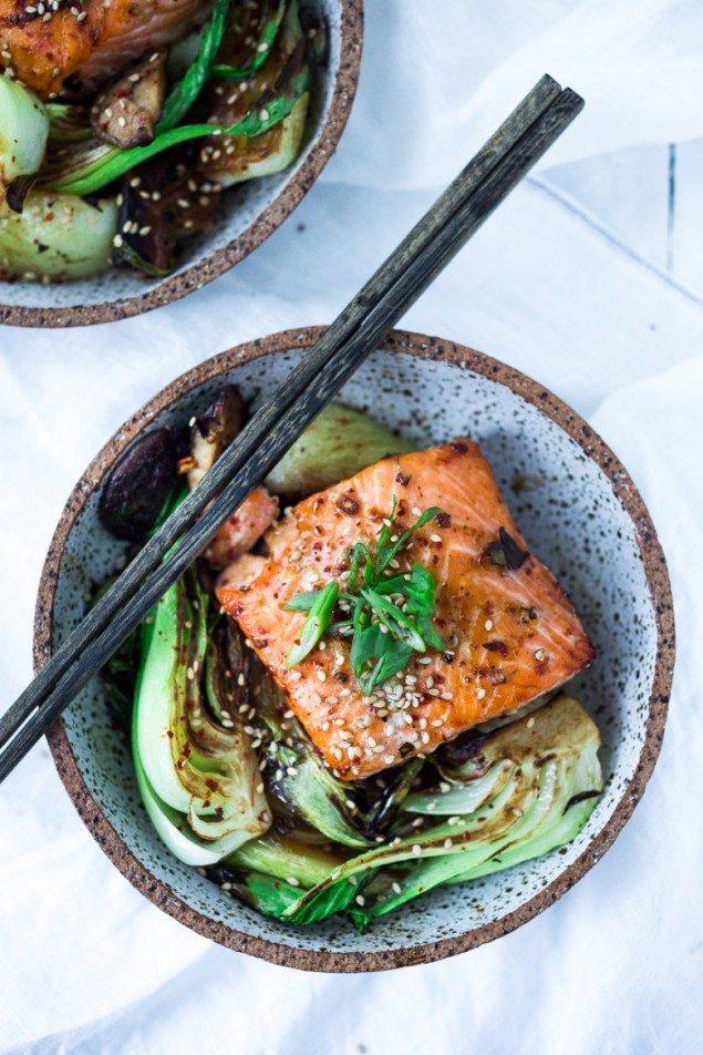 Teriyaki Salmon and Bok Choy