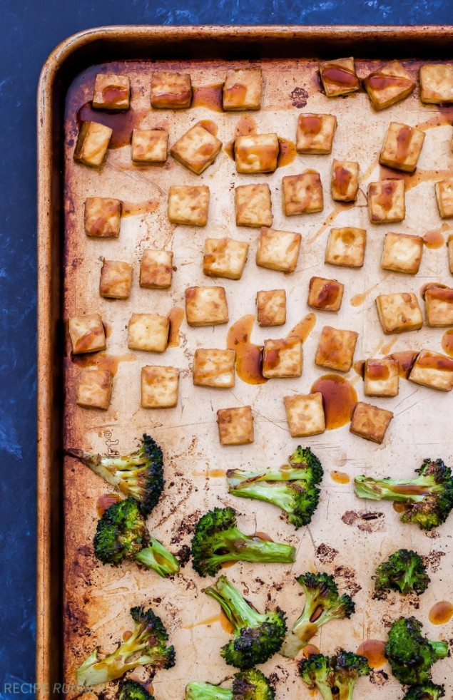 One-Pan Teriyaki Tofu and Broccoli